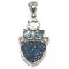 Sterling Silver Blue Druzy Pendant