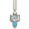 Sterling Silver Ancient Roman Glass w/Pearl and Opal Pendant