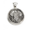 Sterling Silver Clown Coin Pendant
