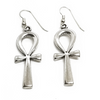 Sterling Silver Ankh Earrings