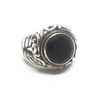 Sterling Silver and 18KY Onyx Ring