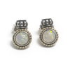 Sterling Silver and 18KY Opal Earrings