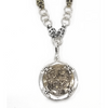Sterling Silver and Bronze Atocha Skull Necklace