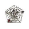 Sterling Marcasite Spider Brooch