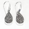 Sterling Silver Silver Druzy Earrings