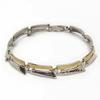Sterling and 9KY Hammered Bracelet