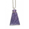 Sterling Silver Amethyst and Charoite Pendant