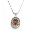 14KW Citrine and Diamond Pendant