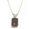 14KY Whiskey Quartz and Diamond Pendant