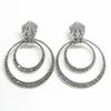 Sterling SIlver Marcasite Hoope Earrings