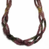 Sterling Silver Multistrand Tourmaline Necklace