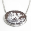 Sterling Silver Roman Soldier on Chariot Cameo