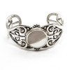Sterling Silver Mother of Pearl Cuff with Diamonds