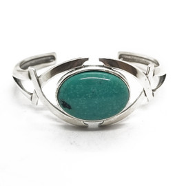 Sterling Silver Oval Turquoise Cuff