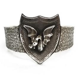 Sterling Silver Dragon Cuff