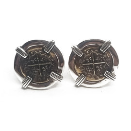 Sterling Silver and Copper Atocha Cufflinks