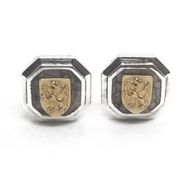 Sterling Silver and 18KY Lion Cufflinks