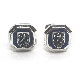 Sterling Silver Lapis Lion Cufflinks