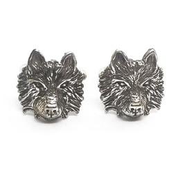 Sterling Silver Wolf Cufflinks