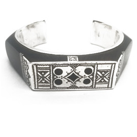 Sterling Silver and Ebony Cuff