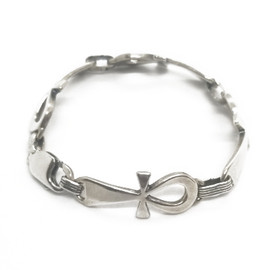 Sterling Silver Solid Ahnk Bracelet