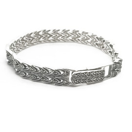Sterling Silver Marcasite Bracelet Fold Clasp