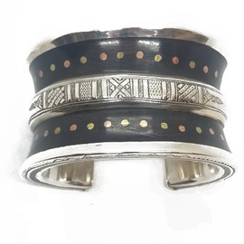 Sterling Silver and Bronze Ebony Cuff
