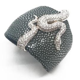 Sterling Silver Stingray Snake Cuff