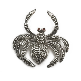 Sterling Silver Spider Brooch