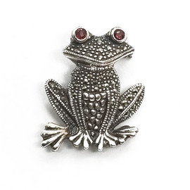 Sterling Silver Frog Brooch