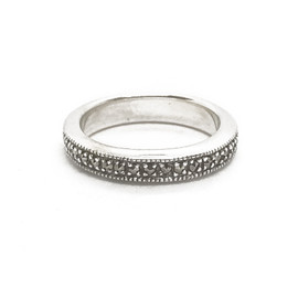 Sterling Silver Marcasite Band