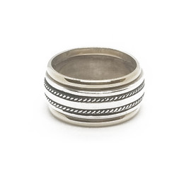 Sterling Silver and 14KY Band
