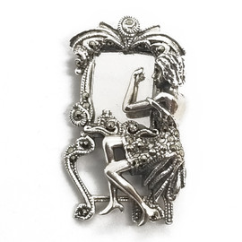 Sterling Silver Art Deco Brooch