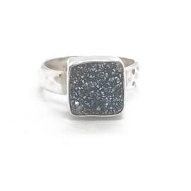 Sterling Silver Druzy Ring