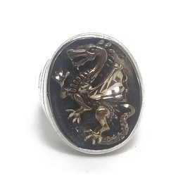Sterling Silver and Bronze Dragon Ring