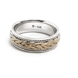 14K Two Tone Celtic Band