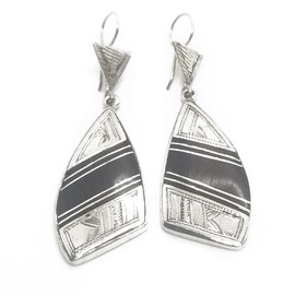 Sterling Silver and Ebony Earrings