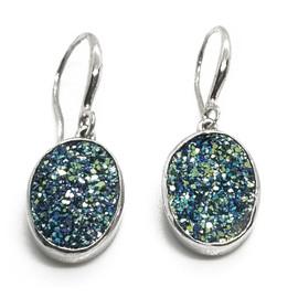 Sterling Druzy Earrings