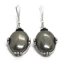Sterling Silver Pyrite Earrings