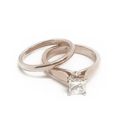 14K Rose Gold Bridal Set