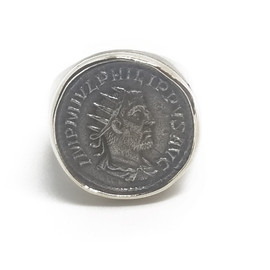 14KW&Y Ancient Roman Coin Ring