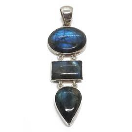Sterling Silver Oval, Rectangle, Tear Drop Labradorite Pendant