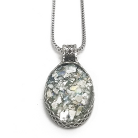Sterling Silver Oval Ancient Roman Glass Pendant