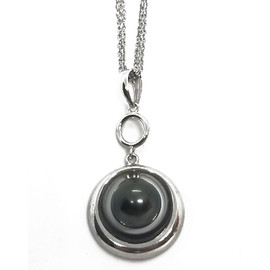 Sterling Silver Black Pearl Pendant
