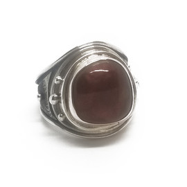 Sterling Silver Fire Agate Ring