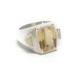 Sterling Silver and 14KY Imperial Topaz Ring
