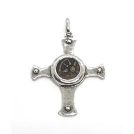 Sterling Silver Widows Mite Cross Pendant