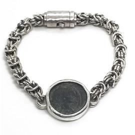 Sterling Silver Ancient Roman Coin Bracelet