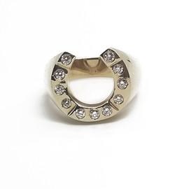 14KY Diamond Horeshoe Ring