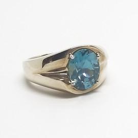 14KY Blue Zircon Ring